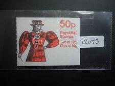 Great Britain Folded Booklet 50p 1988 FB51 (Cylinder B1,B16)(Average Perfs) MNH