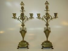 Antique Neoclassical French Grand Tour, Bronze Candelabras 5-Light Candlesticks