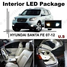 White LED Lights Interior Package Kit for Hyundai Santa Fe 2007-12 ( 8 Pcs )