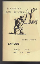 Rochester NY Bow Hunters Eighth Annual Banquet Program December 15 1962