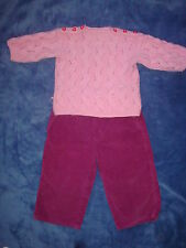 2 pc lot H&M h & M pants sz 1-1.5 y and no brand chunky knit winter sweater.