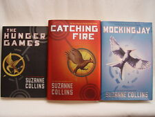 HUNGER GAMES TRILOGY BOOK SET Catching Fire Mockingjay Lot of 3 Suzanne Collins