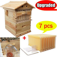 7pcs Upgraded Auto Flow Beehive Frames + 1 pc  Beekeeping Brood Wooden House