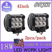 TOP 4INCH 2X18W Cree Off-road Vehicle Lamp LED Flood Refitted Car Work Light Bar