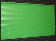 VINTAGE ALUMINUM VENETIAN WINDOW MINI BLINDS MID-CENTURY RETRO GREEN 3 PC SET