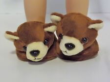 "Teddy Bear Slippers Fits Wellie Wishers 14.5"" American Girl Clothes Shoes"