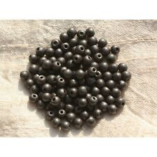 Perles de Pierre - Hématite Mate Boules 4mm Fil de 39 cm