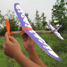 1PC Airplan Paper Jet Glider Machine Handmade Rubber Band DIY Science Model Toy