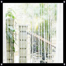 Vorhang Gardine Türvorhang Fadenstore Fäden Raumteiler Deko Herzen Herz Weiß