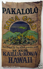 KONA GOLD Hawaii BURLAP BAG  marijuana hippie sack pot leaf novelty weed