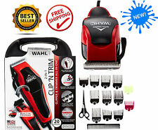 Best Pro Hair Cut Shaving Machine Barber Hair Clipper Trimmer Cutting Mens Kit