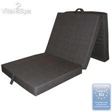VitaliSpa®matelas pliable pliant lit d'invité couchette lit de voyage Anthracite