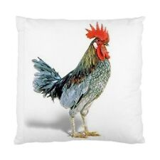 Blue Rooster Chicken Two-Sided Cushion Pillow Case