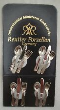 Silver Metal Cutlery 1.917/0  Reutter  miniature dollhouse 1/12 scale 12pc