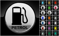 Petrol Fuel Only Sticker Petrol Cap Cover Car 75mm Decal  21 Colours