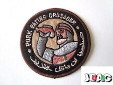 PATCH ECUSSON PORK EATING CRUSADER TEMPLAR INFIDEL TEMPLIER CROISADE - 8 CM