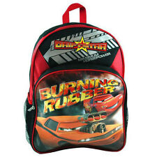 """Backpack 16"""" Cars McQueen Burning Rubber 2 Compartment BkRd NWT"""