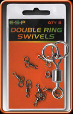 BRAND NEW ESP DOUBLE RING SWIVELS COARSE CARP FISHING