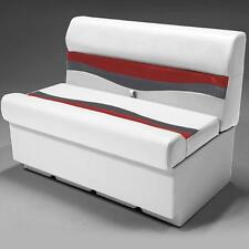 """38"""" Pontoon Boat Seat In Gray, Red and Charcoal"""