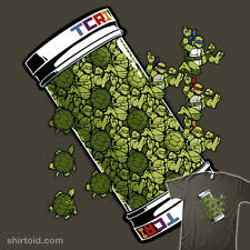 TMNT Teenage Mutant Ninja Turtles Tessellation Ooze Canister NEW TEEFURY T-SHIRT
