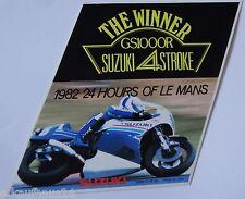 Aufkleber SUZUKI GS1000R 24h of LE MANS 1982 Winner Sticker Autocollant
