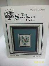 "THE SWEETHEART TREE COUNTED CROSS STITCH CHART ""TAPESTRY HEART"" TEENIE #26"