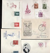 GERMANY 1950's COLLECTION OF 27 FDC's & SPECIAL CANCELLATIONS, INLCUDING FLIGHTS
