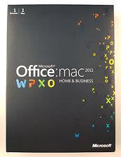 MS Office Mac 2011 Home and Business DVD Vollversion Deutsch Retail Box