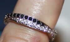 Vintage Sapphire and White Topaz Sterling Silver Ring. Dainty & Beautiful. Sz. 6