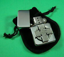 CELTIC CROSS DESIGN Petrol Lighter in Pouch Free UK Post  Scotland Ireland Wales