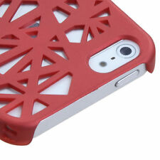 For Apple iPhone 5 5S SE Rubberized Bird Nest HARD Case Snap On Phone Cover Red
