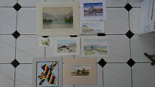 Job Lot 8 Watercolour Paintings - Landscapes Countryside Cottages Rivers Lakes