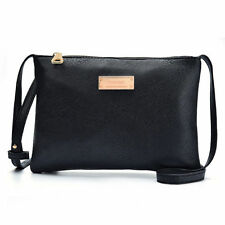 Women PU Leather Crossbody Satchel Clutch Bags Tote Shoulder Black Messenger Bag
