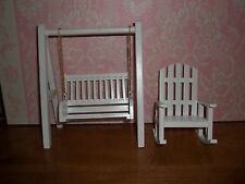 WOODEN SWING AND ROCKER -  - DOLL HOUSE MINIATURE