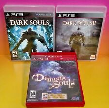 Dark Souls I + II + Demon's Souls - Playstation 3 PS3 Rare 3 Games Atlus Bandai