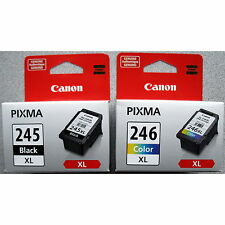 2-PACK Canon GENUINE PG-245XL Black & CL-246XL Tri-Color Ink (RETAIL BOX)
