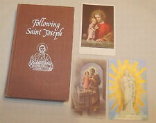 Following St Joseph Catholic Book Publishing 1980 Illustrated w/3 Free HolyCards