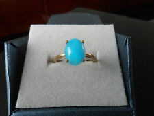 AMAZING ULTRA RARE BLUE HEMIMORPHITE 9K RING VERY RARE GEM STONE