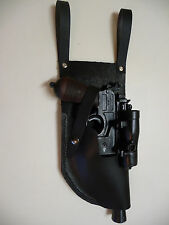 Star Wars 4 oz Real Leather DL-44 w/ side mount scope HOLSTER  in black costume