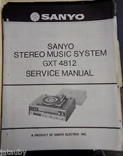 SANYO Vintage Original Stereo Music System GXT 4812 Service Manual