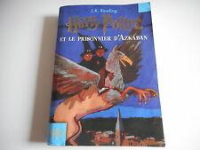 HARRY POTTER ET LE PRISONNIER D'AZKABAN - J.K. ROWLING - FOLIO