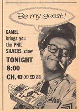 1956 CAMEL CIGARETTE AD~PHIL SILVERS SHOW~SGT BILKO~TOBACCO~SMOKES~TELEVISION