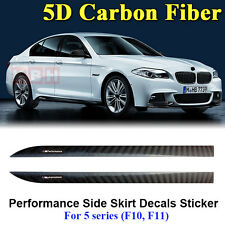 M Performance Side Skirt Stripe 5D Carbon Fiber Sticker for BMW 5 Series F10 F11