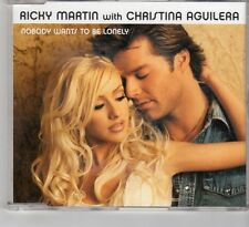 (HE677) Ricky Martin With Christina Aguilera, Nobody Wants To Be Lonely- 2001 CD