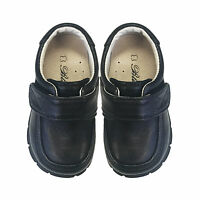 Kids Boys Formal Leather Shoes Kids slip-on Black Shoes SZ3 - 8.5 Approx 1-4 Yr