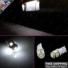 2 x T10 5-SMD HID White 360° 168 194 2825 LED Bulbs for License Plate Lights