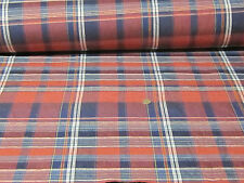 "10meters of 60"" colour woven check 100% Irish LINEN fabric"