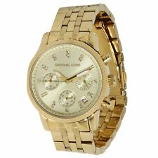 Michael Kors MK5676 Women's Ritz Gold Tone Dial Gold Steel Bracelet Chrono Watch