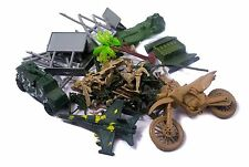 40pc Bag of Warfare Plastic Army Men Soldiers Figures Military War Accessories