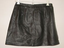 Vintage Betsey Johnson black leather mini skirt sissy holiday party-10